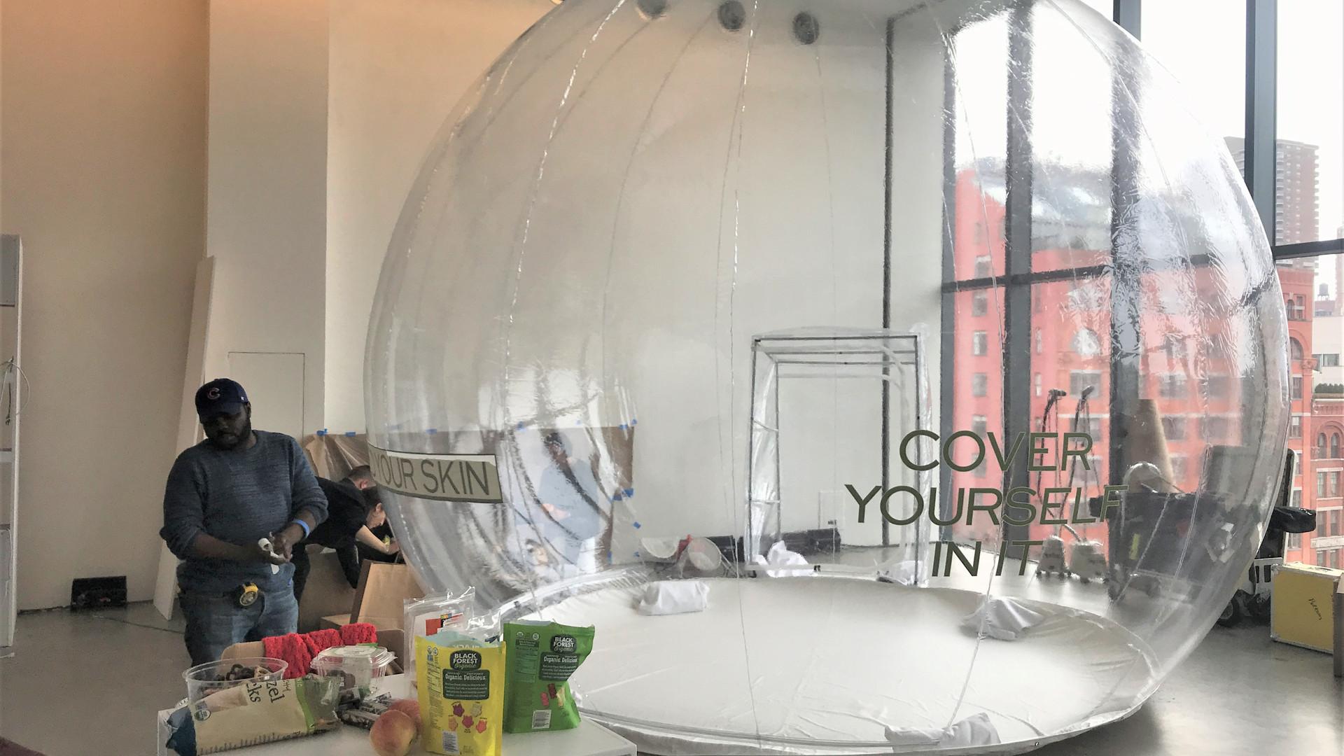 Life-size Crystal Clear Globe