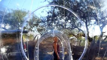 Art Installation in Giant Bubble Huts.jp