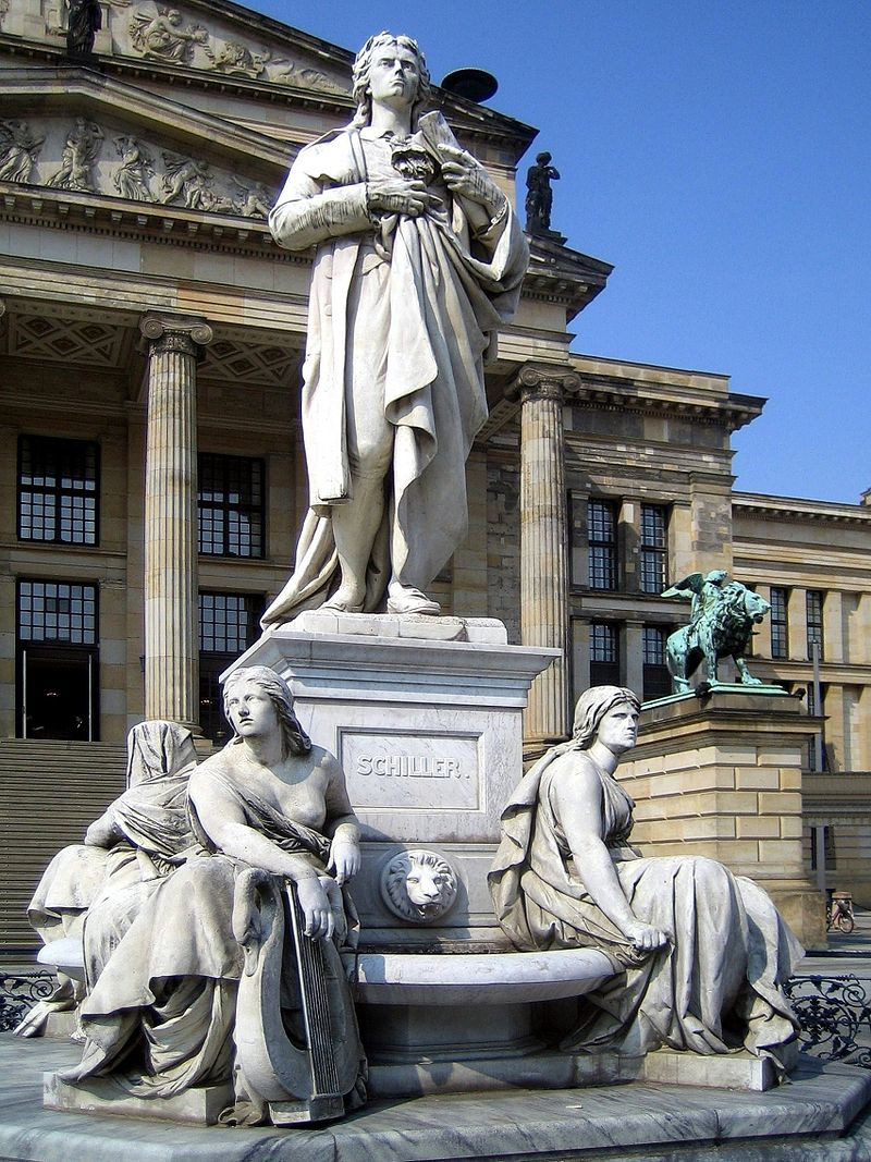 Statue of German Poet Friedrich Schiller, Berlin