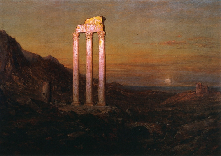 Moonrise - Frederic Edwin Church 1889 (Hudson River School)