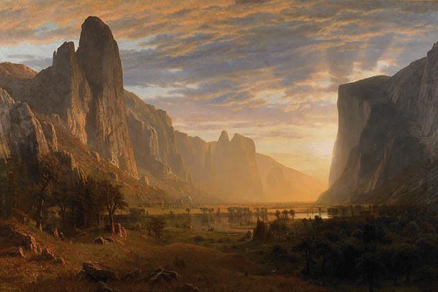 Looking Down Yosemite Valley (1865)- Albert Bierstadt
