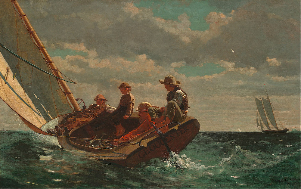Breezing Up (A Fair Wind) 1873-6 - Winslow Homer