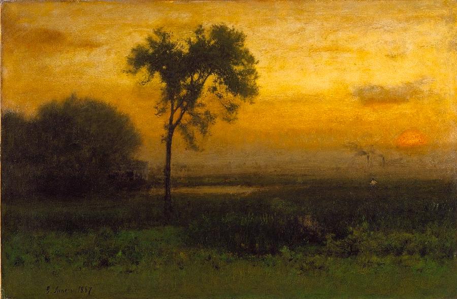 George Inness - Sunrise (1887)