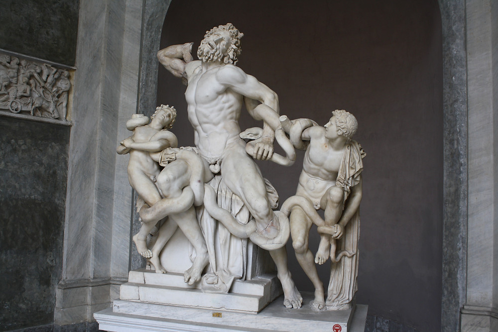 Laocoön and His Sons attributed to the Rhodian sculptors Agesander, Athenodoros and Polydorus