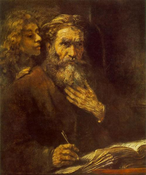 St. Matthew and the Angel - Rembrandt (1661)