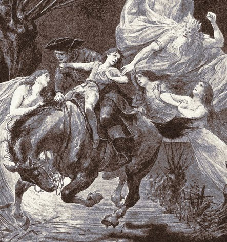 Original Illustration for the Goethe's Erlkoning