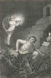 "An original depiction of Goethe's ""The Treasure Seeker"""