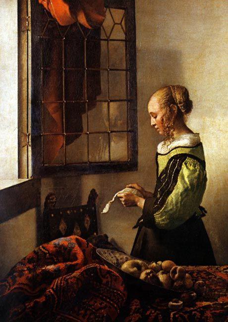 The Letter - Johannes Vermeer 1657
