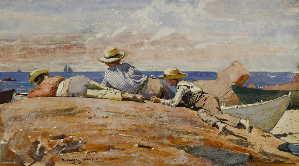 Three Boys on the Shore - Winslow Homer (1873)