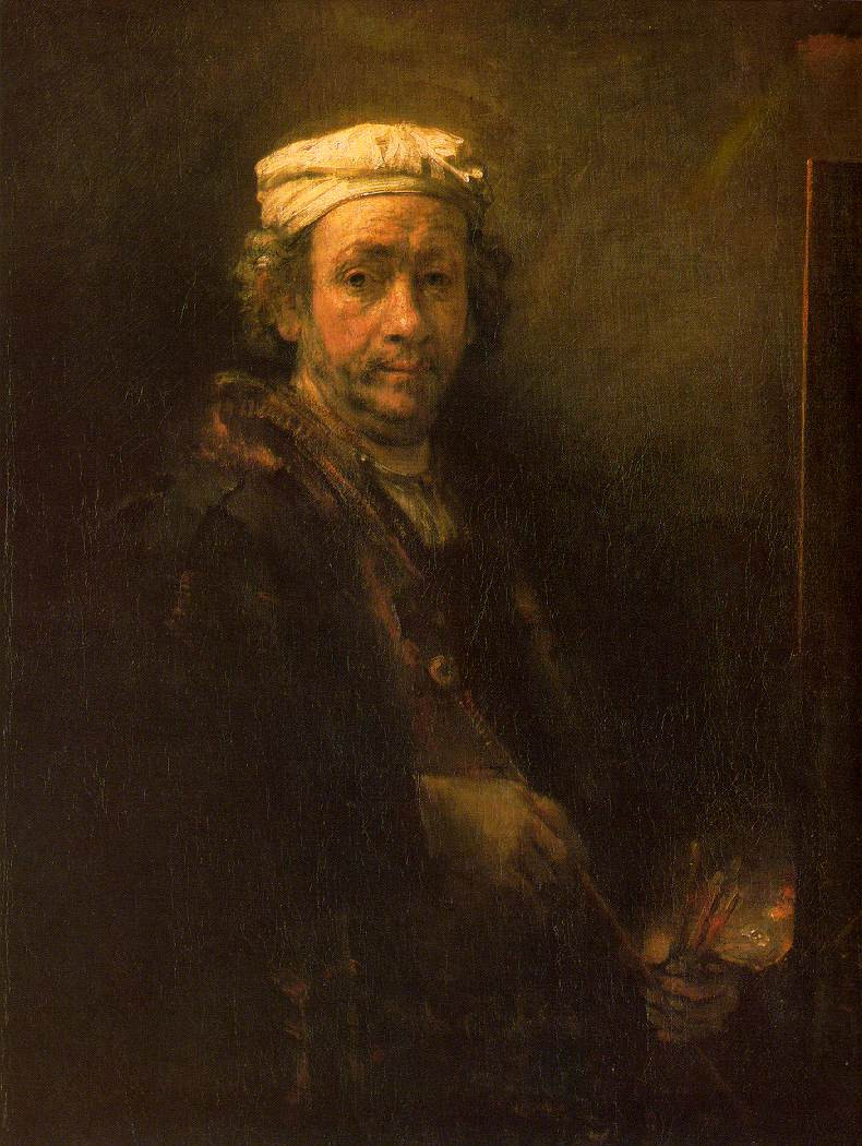 Portrait of the artist at his Easel (1660) - Rembrandt