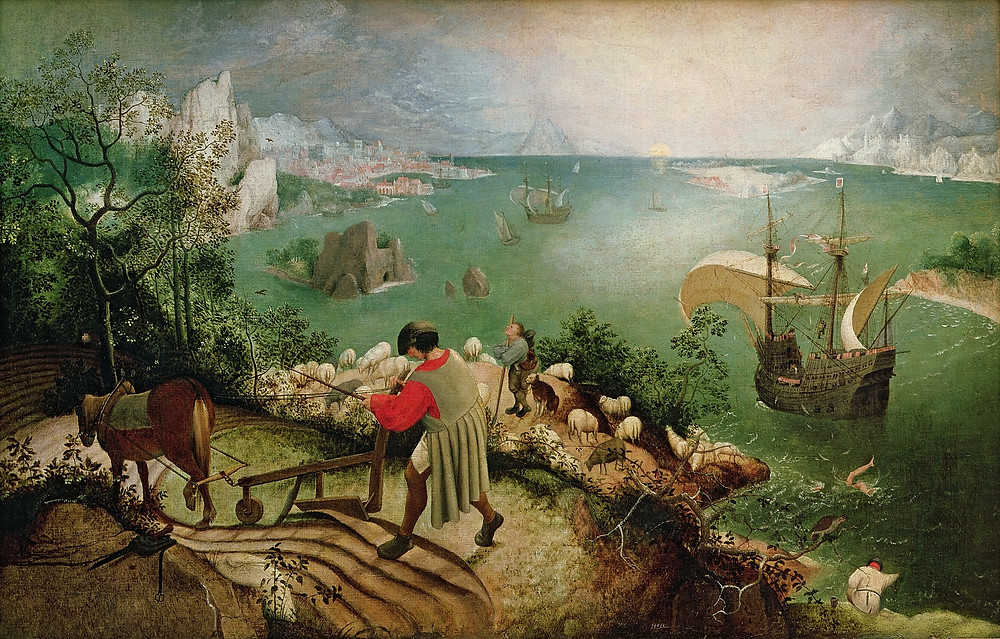Landscape with the Fall of Icarus - Peter Bruegel the Elder