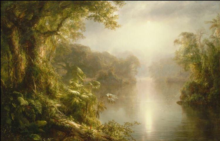 El Rio de Luz - Frederick Edwin Church (1877)