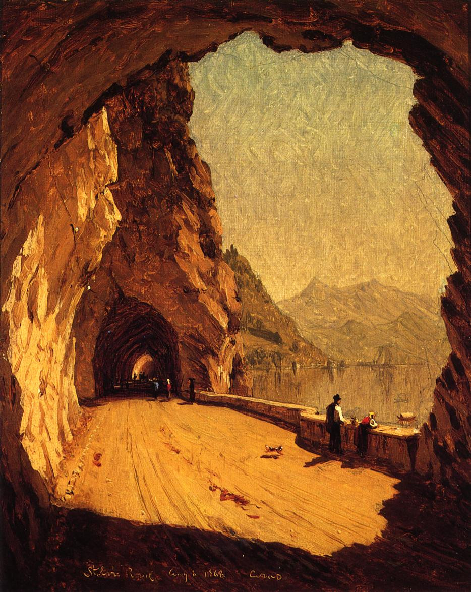 Stelvio Road by Lagodi Como - Sanford Robinson Gifford (1868)