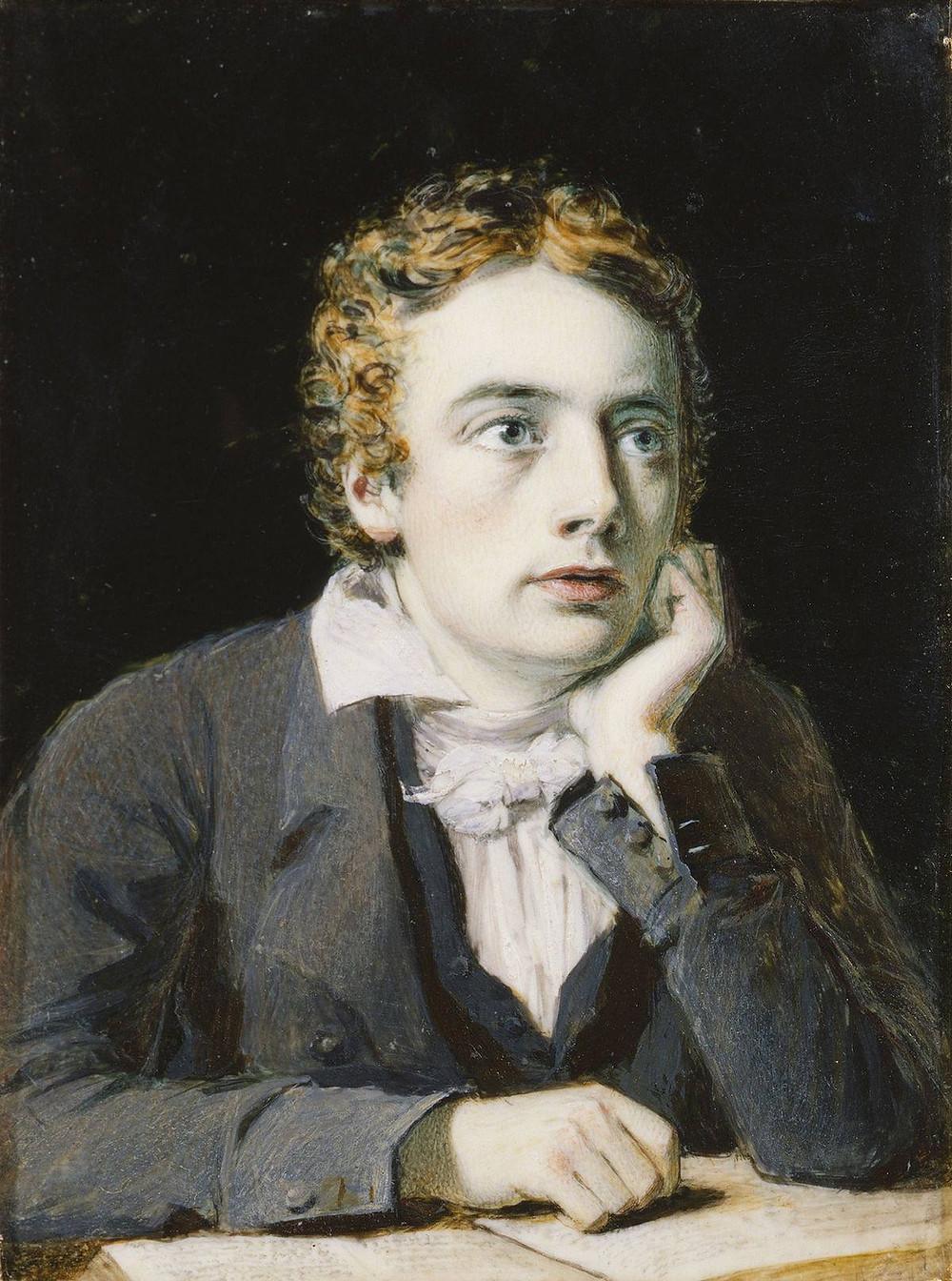 Portrait of John Keats by Joseph Severn, 1819