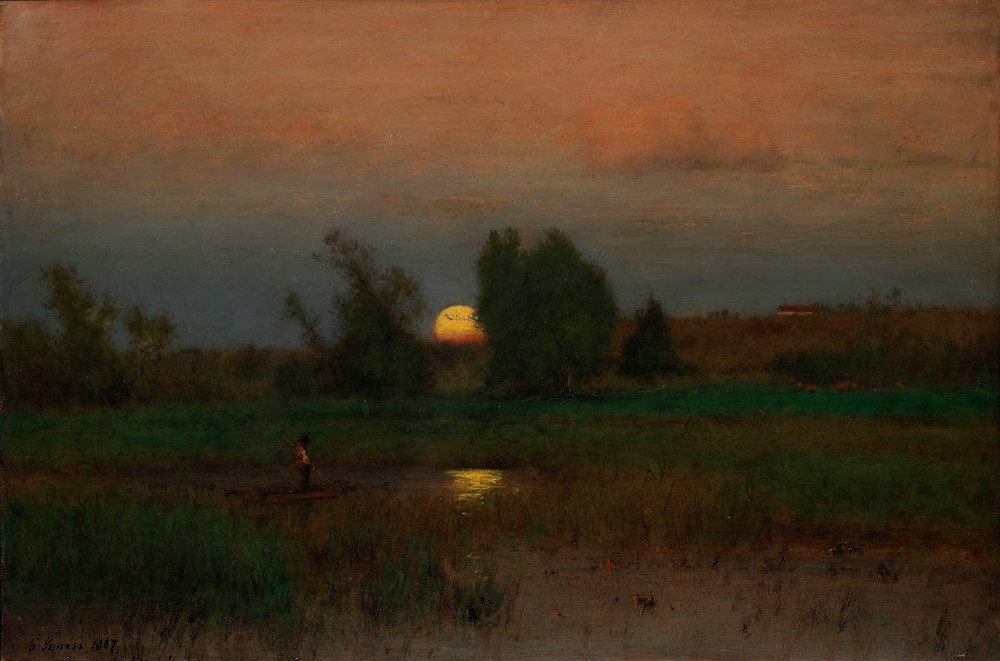 Painting by George Inness of the Hudson River School