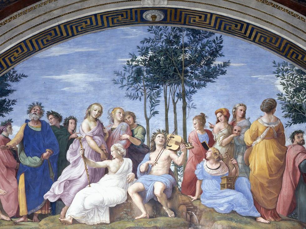 Parnassus - Raphael Sanzio - Vatican Museum