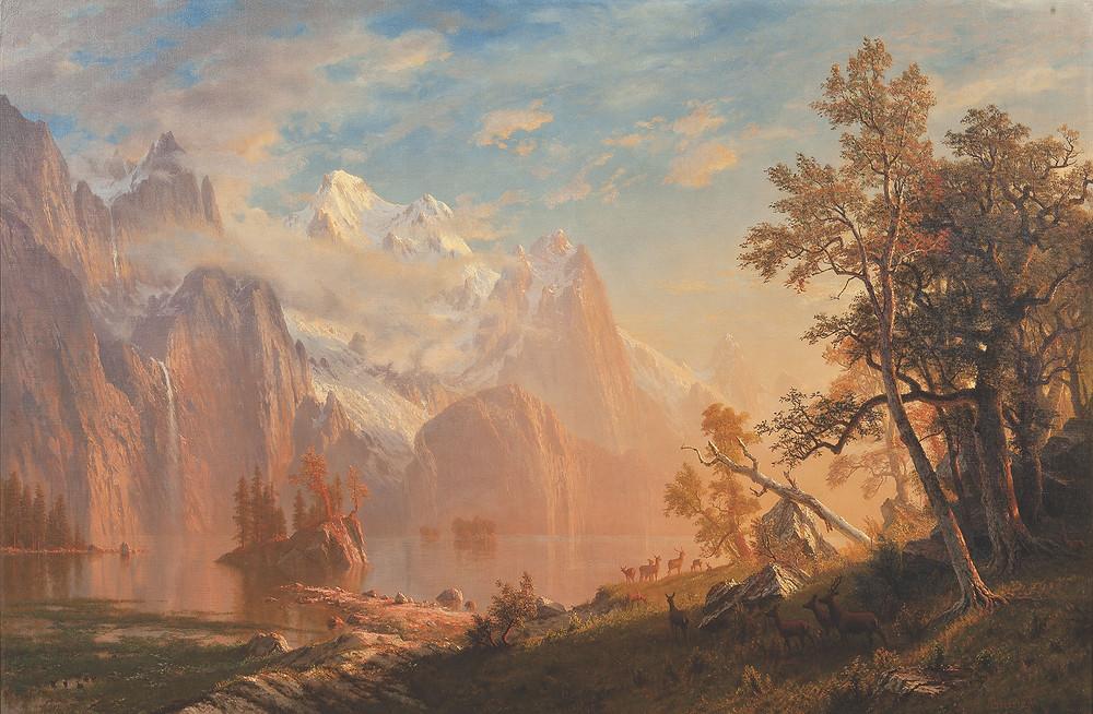 Western Landscape, Mount Whitney by Albert Bierstadt, 1869.