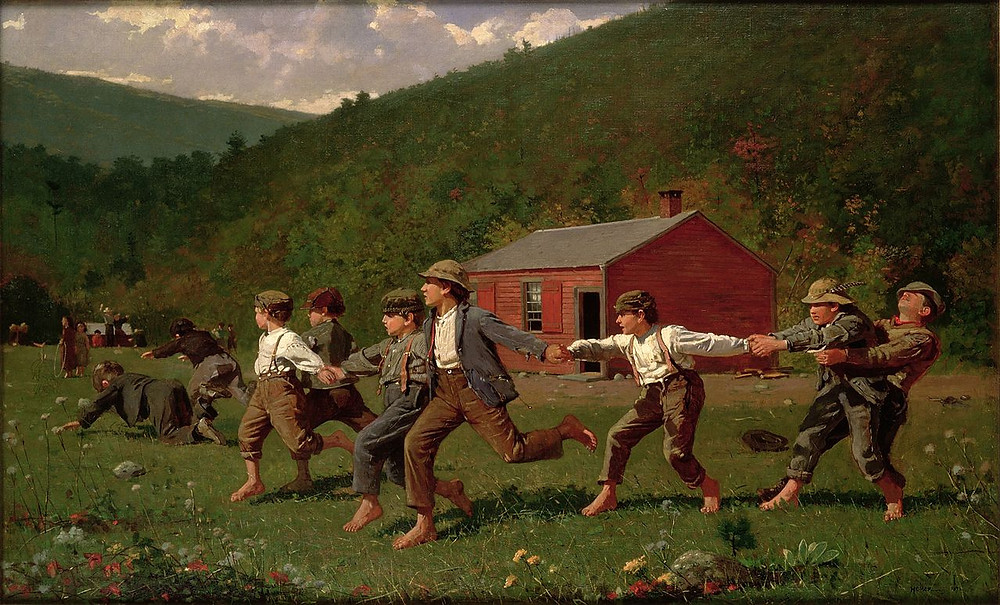 Snap the Whip by Winslow Homer (1872)