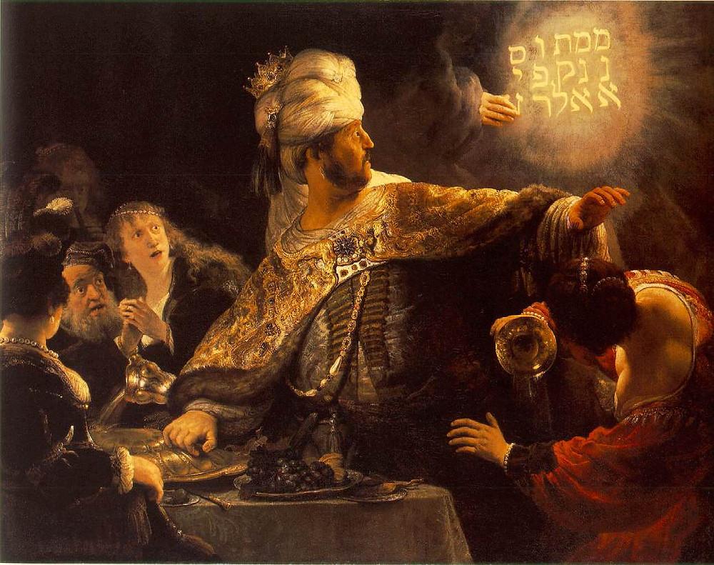 Belshazzar's Feast - Rembrandt van Rijn