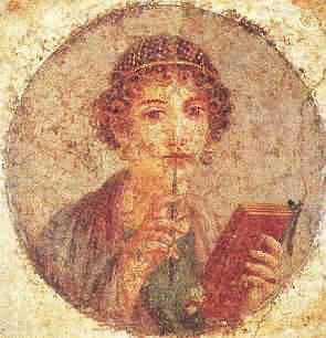 Sappho Fresco - Pompeii