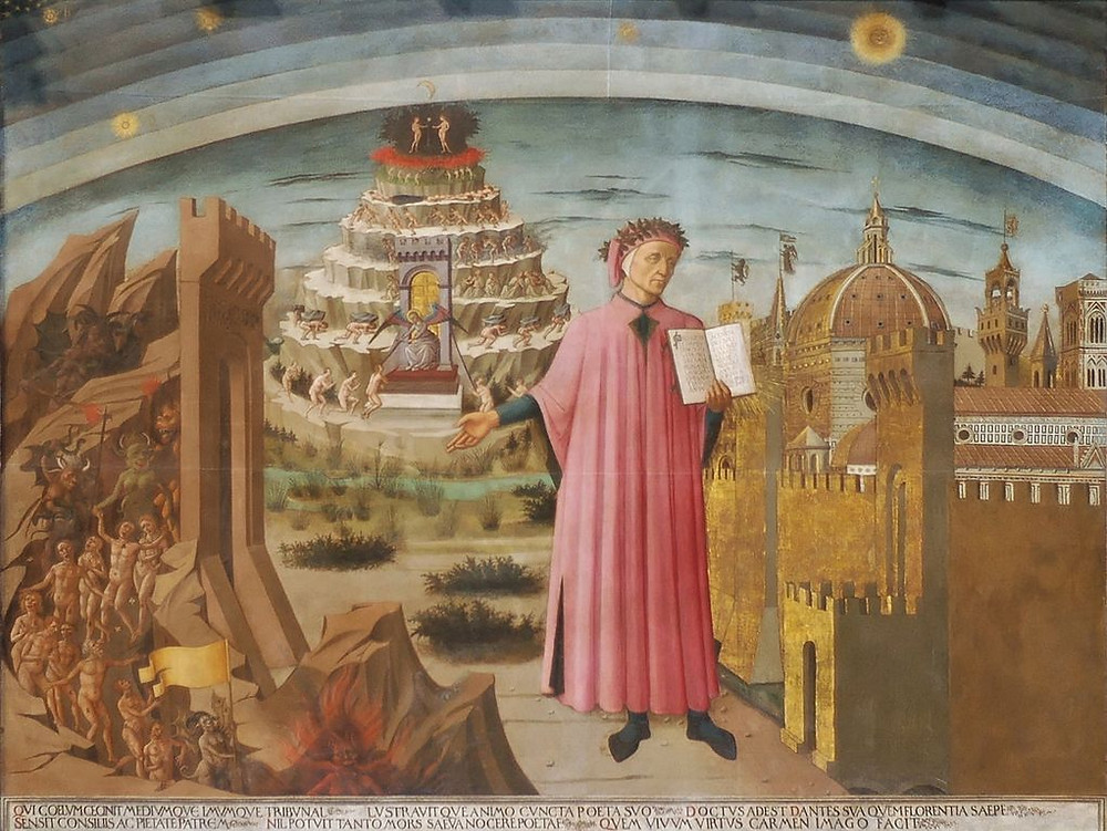 Dante lighting up Florence with his Commedia - By Domenico di Michelino