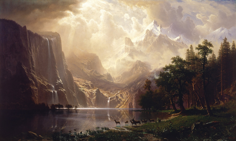 Among the Sierra Nevada - Albert Bierstadt
