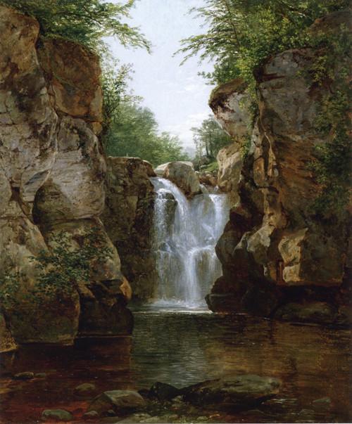 Bash Bish Fall - Albert Bierstadt (Hudson River School)