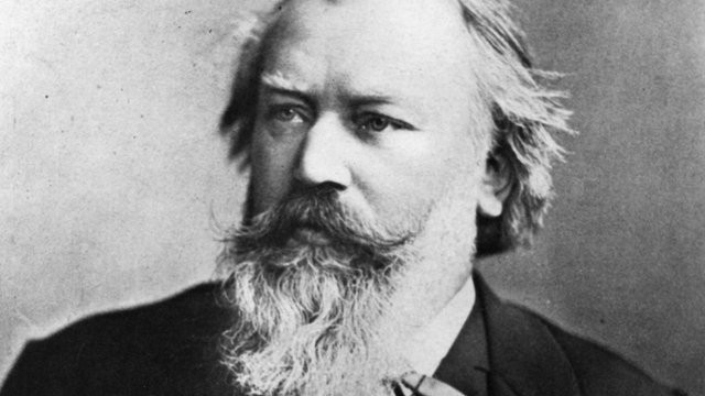 Photograph of the German composer Johannes Brahms