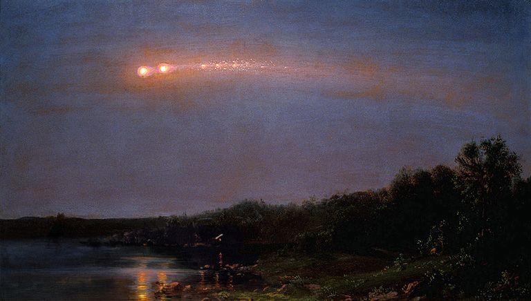Meteor of 1860 - Frederic Edwin Church