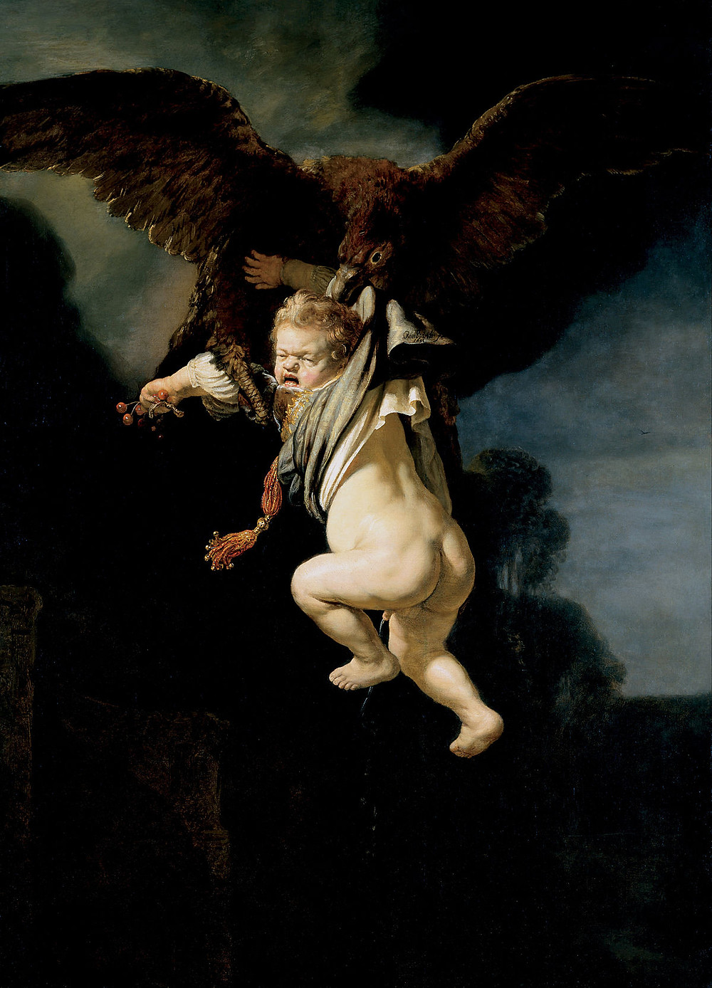 The Abduction of Ganymede - Rembrandt 1635