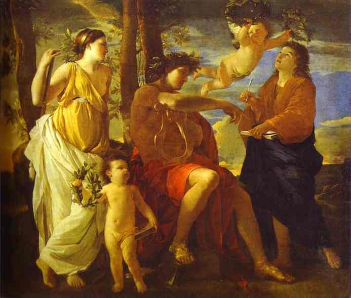 Inspiration of the Poet - Nicolas Poussin (1630)