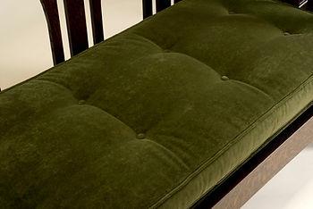 Gustav Stickley 165 settle upholstery