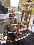 Charles Limbert rocker restoration