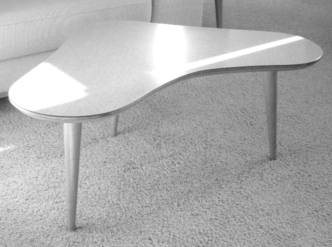 shaped coffee table