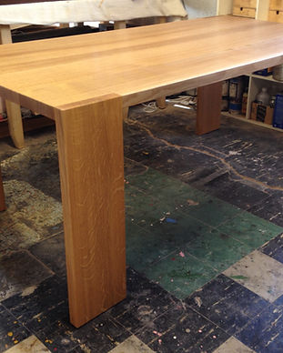 a quarter sawn Mid Century oak table