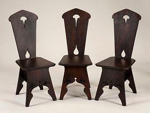 Arts and Crafts cutout side chairs