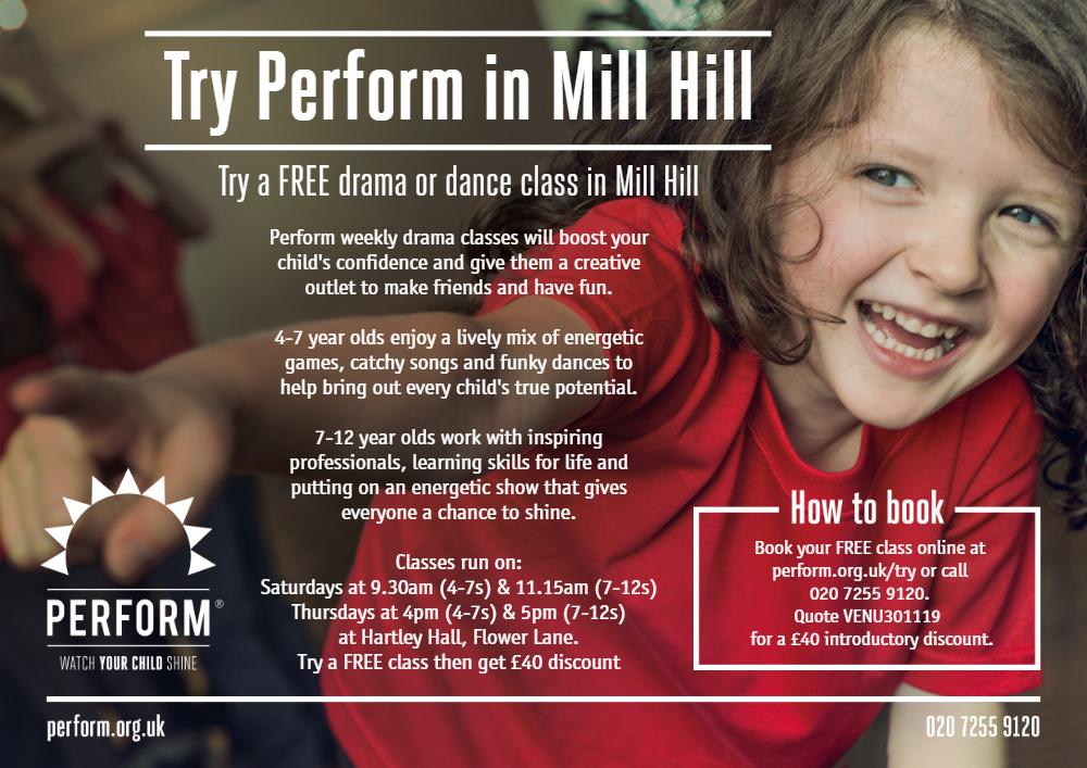 Mill Hill venue E- Flyer