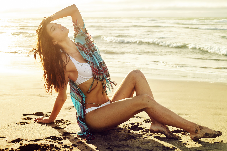 Beach Swimsuit Model