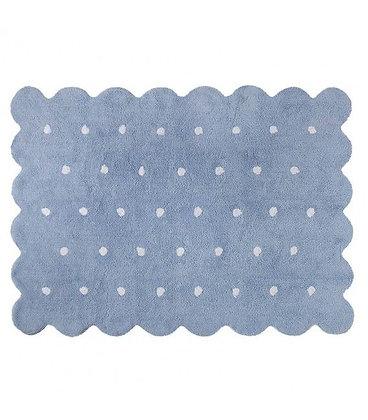 Alfombra Biscuit Reversible Azul