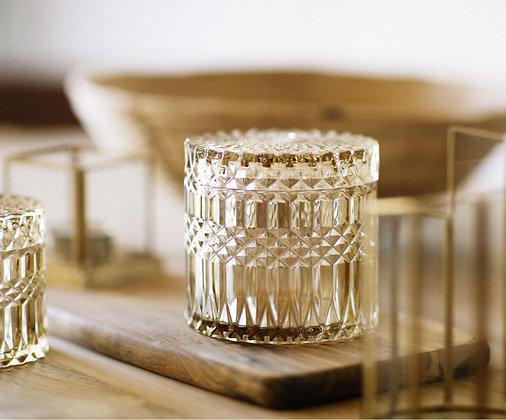 Caja vidrio ambar