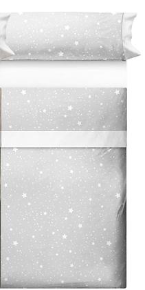 Juego de sábanas Estrellas gris
