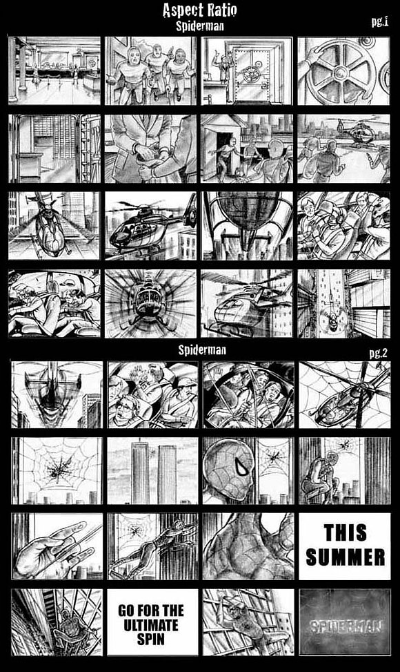 black and white storyboard
