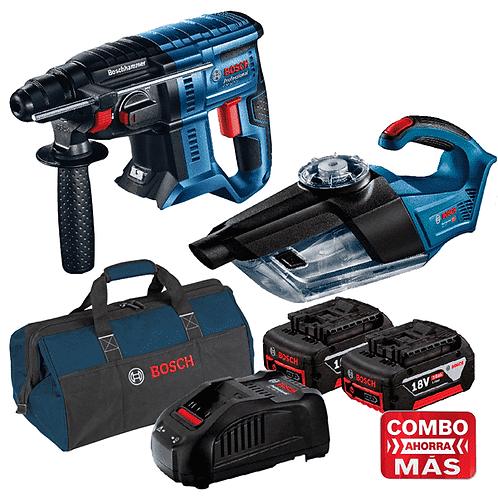 Martillo GBH 180-LI + Aspiradora de polvo GAS 18V-1 + 2 Baterias y Cargador + Ma