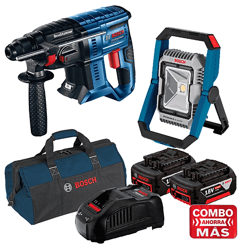 Martillo GBH 180-LI + Linterna GLI 18V-1900 + 2 Baterias y Cargador + Maleta-Sof