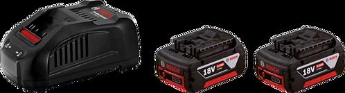 Cargador de bateria GAL 1880 + 2 Baterias GBA 18V 3.0 Ah