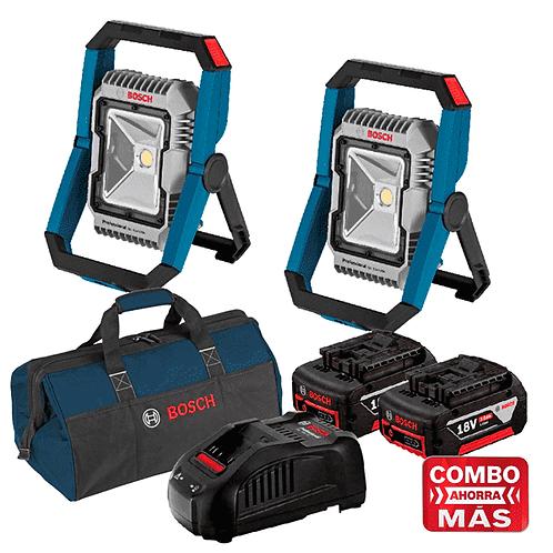Linterna GLI 18V-1900 + Linterna GLI 18V-1900+ 2 Baterias y Cargador + Maleta-So