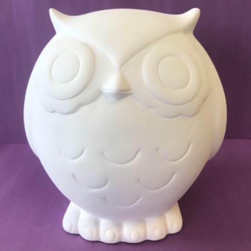 Extra large owl money box