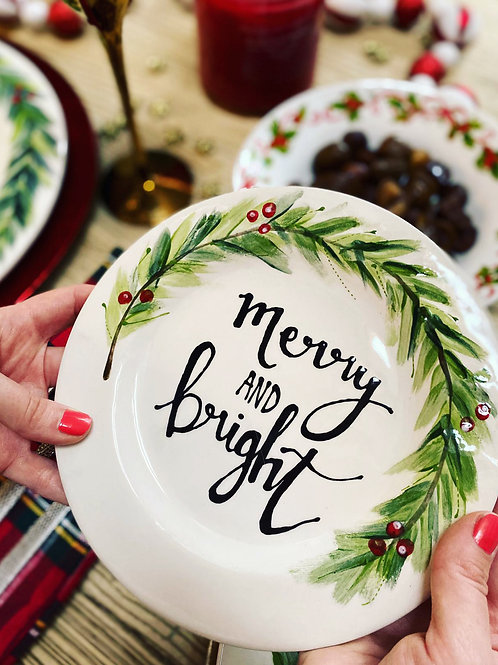 Bespoke Christmas Side Plate- made by us!