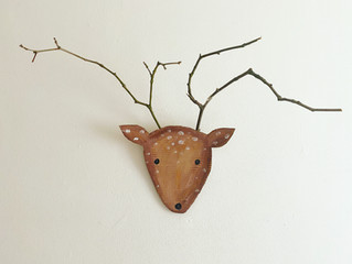 Stag head wall hanger