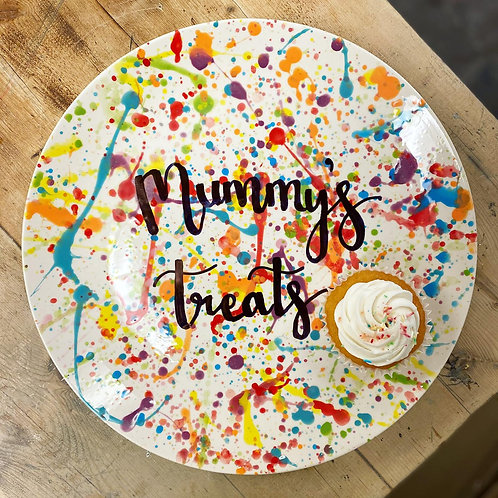 Mother's Day treats/ bakes coupe plate - Personalised